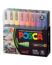 Uni POSCA Marker - SET PC-5M (2.5mm) - 16er Etui